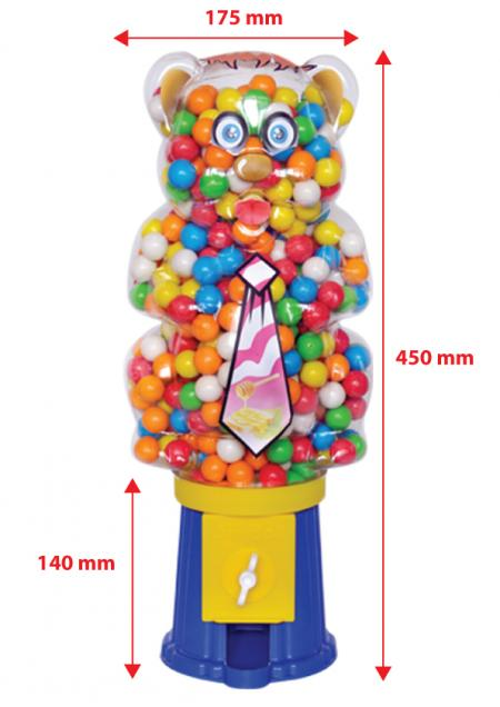Airball Gum Machine Panda With Bulk Nylon Bag