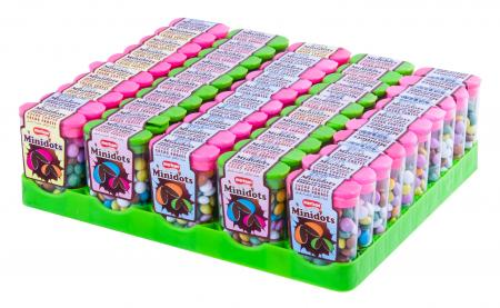 Minidots Sugar Coated Cacao Dragee - Square Stand