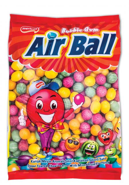 Airball Gum With Fruit Flavour And Fruit Shape Bulk Nynlon Bag 1 Kg
