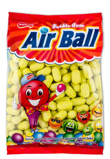 Airball Fruit Flavoured And Melon Shaped Gum - Bulk Nylon Bag