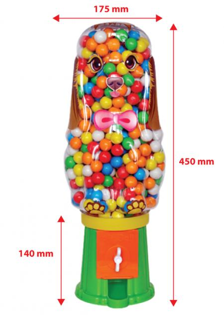 Airball Gum Machine Dog With Bulk Nylon Bag
