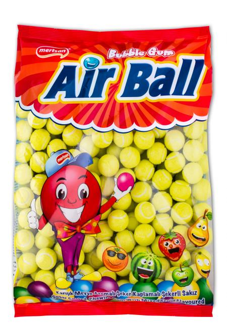 Airball Fruit Flavoured And Tennis Ball Shaped Gum - Bulk Nylon Bag