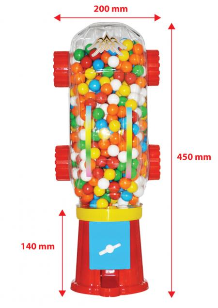 Airball Gum Machine Q7 With Bulk Nylon Bag